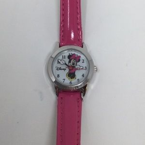 Disney Minnie Mouse Watch w/Pink Leather band